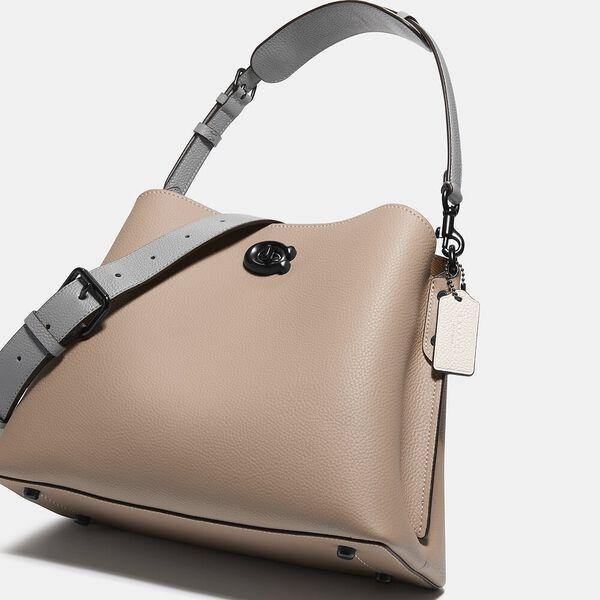 Willow Shoulder Bag In Colorblock, V5/TAUPE MULTI, hi-res