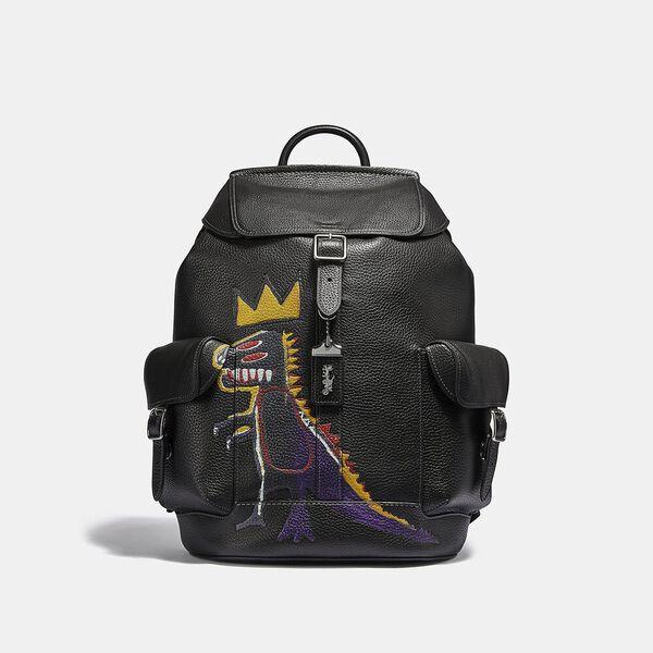 Coach X Jean-Michel Basquiat Wells Backpack In Pez Dispenser