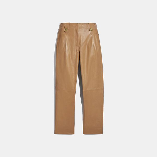 Leather Trouser, LIGHT BEIGE, hi-res