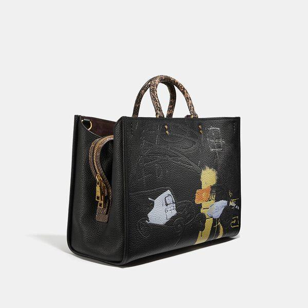 Coach X Basquiat Famous Crown With Snake Handle Rogue Bag 39, B4/BLACK, hi-res