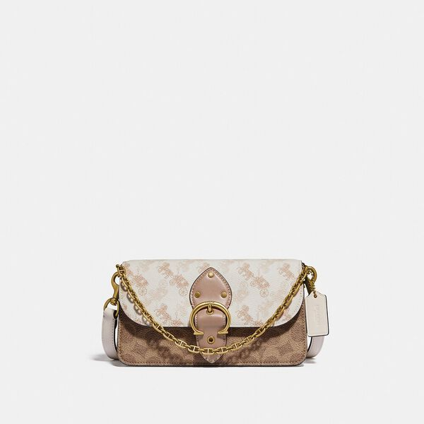 Beat Crossbody Clutch In Signature Canvas With Horse And Carriage Print