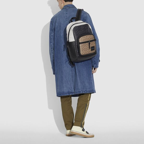 Pacer Tall Backpack 29 In Colorblock Signature Canvas, JI/CHARCOAL MULTI, hi-res