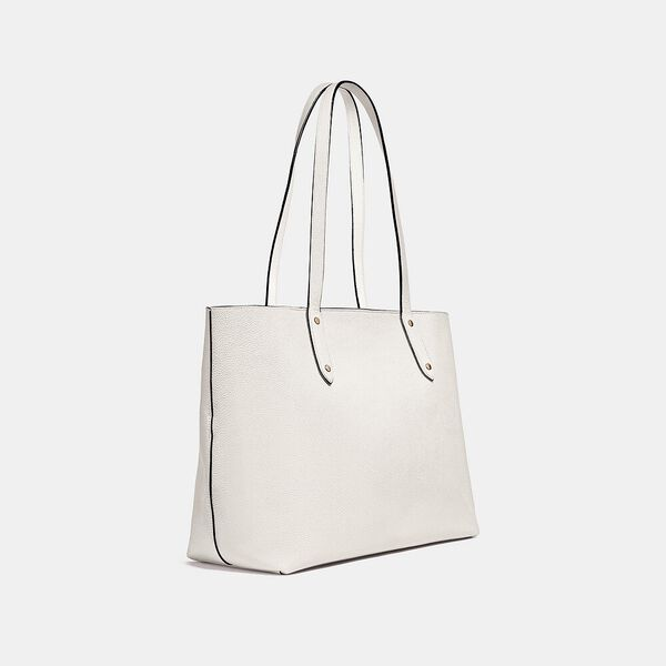 Central Tote With Zip, GD/CHALK, hi-res