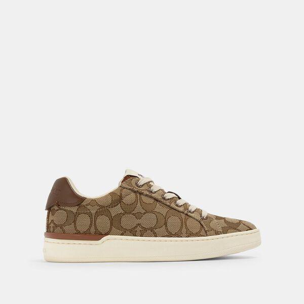 Clip Low Top Sneaker, KHAKI/SADDLE, hi-res