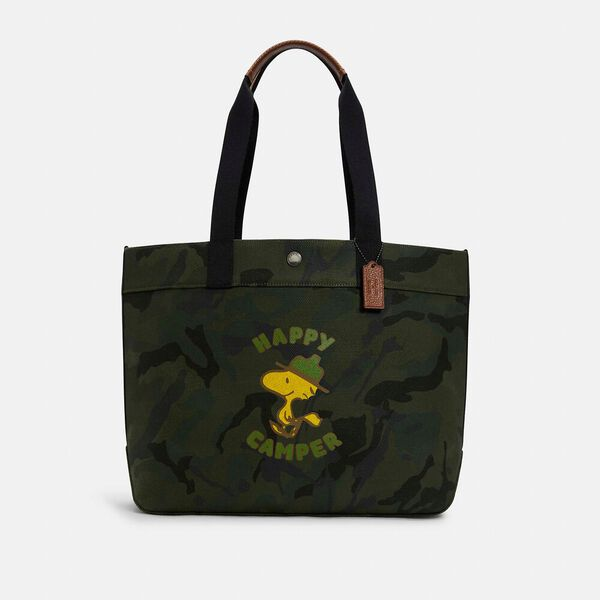 Coach X Peanuts Tote With Woodstock