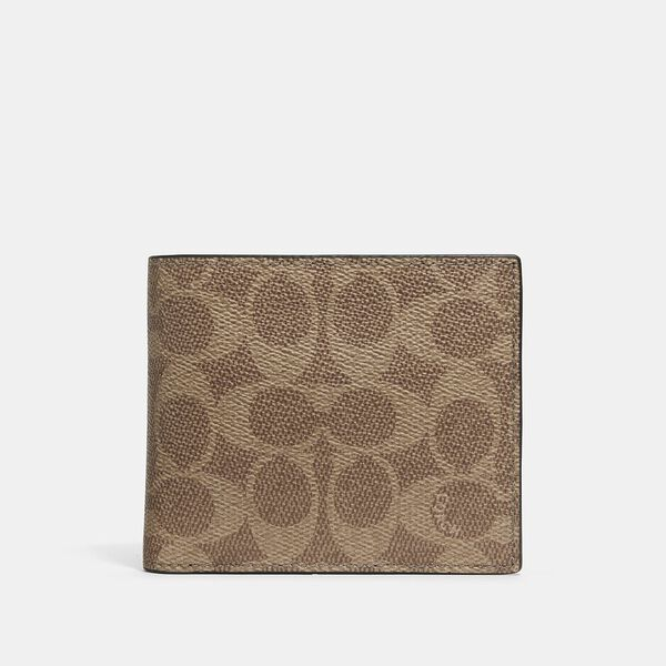 3-In-1 Wallet In Signature Canvas, KHAKI, hi-res