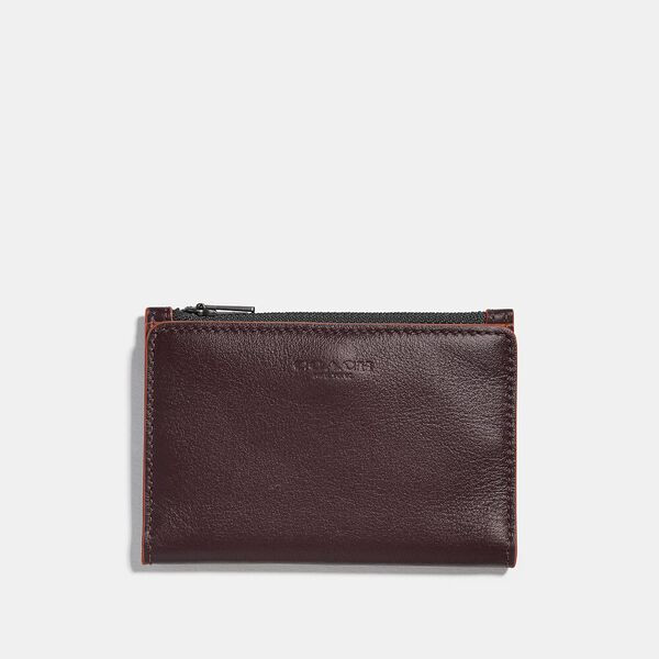 Bifold Zip Card Case, UMBER/CLAY, hi-res