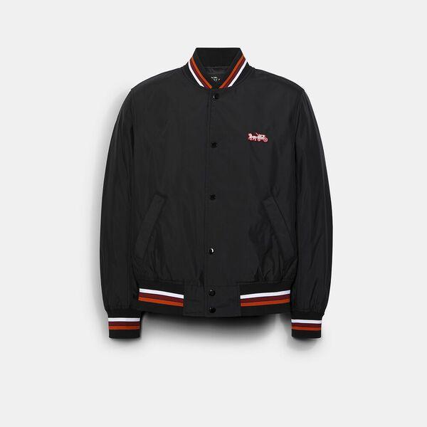 Lightweight Varsity Jacket, BLACK, hi-res