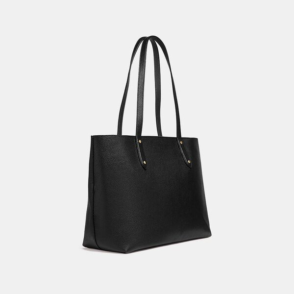 Central Tote With Zip, GD/BLACK, hi-res