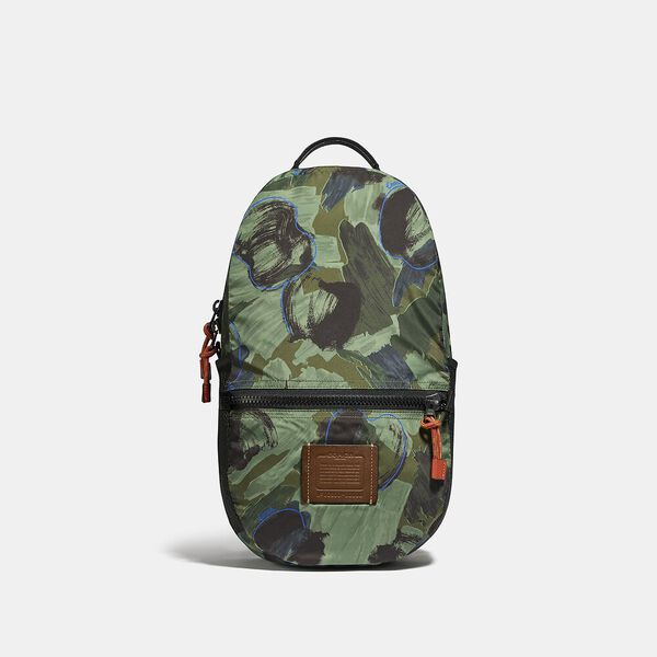 Reversible Pacer Backpack In Signature Cordura® Fabric With Camouflage Apple Print And Coach Patch, JI/BLACK MULTI, hi-res