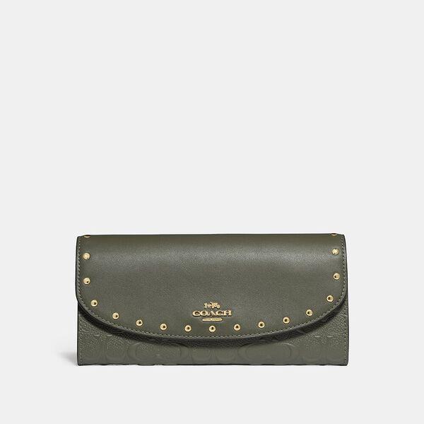 Slim Envelope Wallet With Rivets