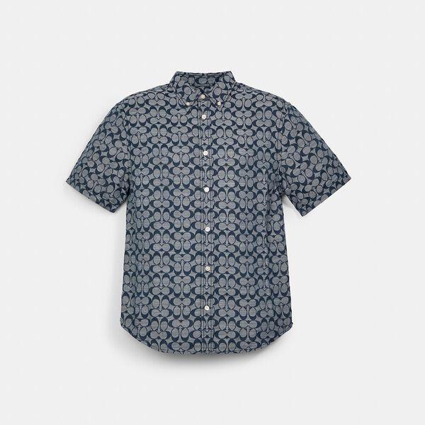 Signature Chambray Shirt, CHAMBRAY, hi-res