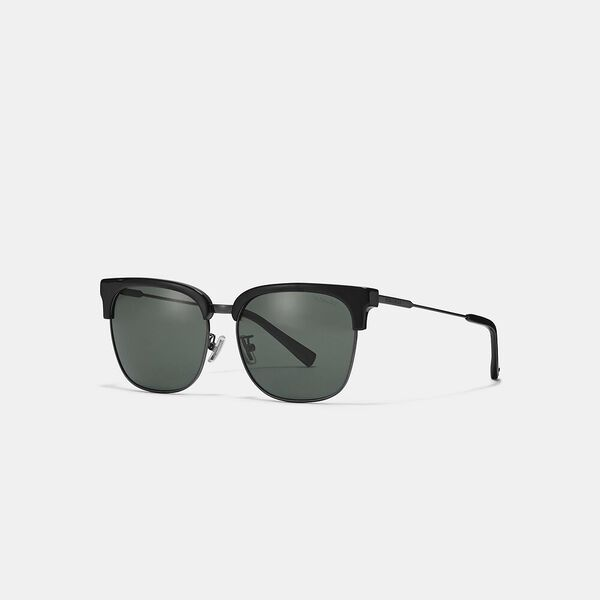 Retro Frame Sunglasses, MATTE BLACK, hi-res
