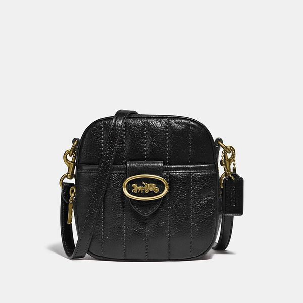 Kat Camera Bag With Quilting, B4/BLACK, hi-res