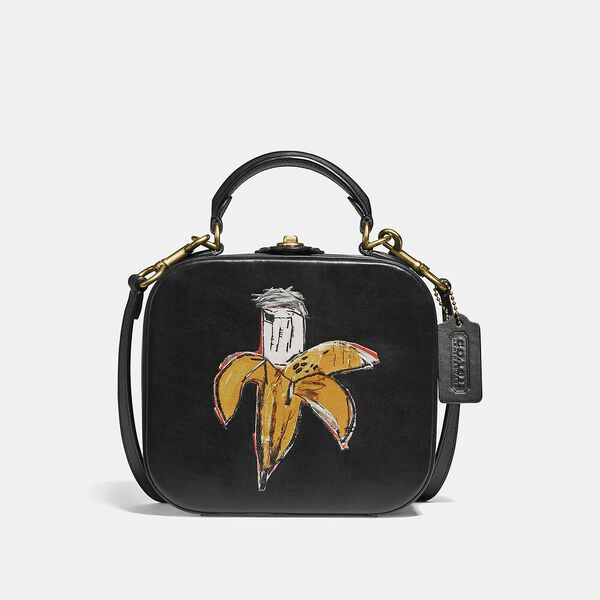 Coach X Basquiat Brown Spots City Blocks Square Bag, B4/BLACK, hi-res
