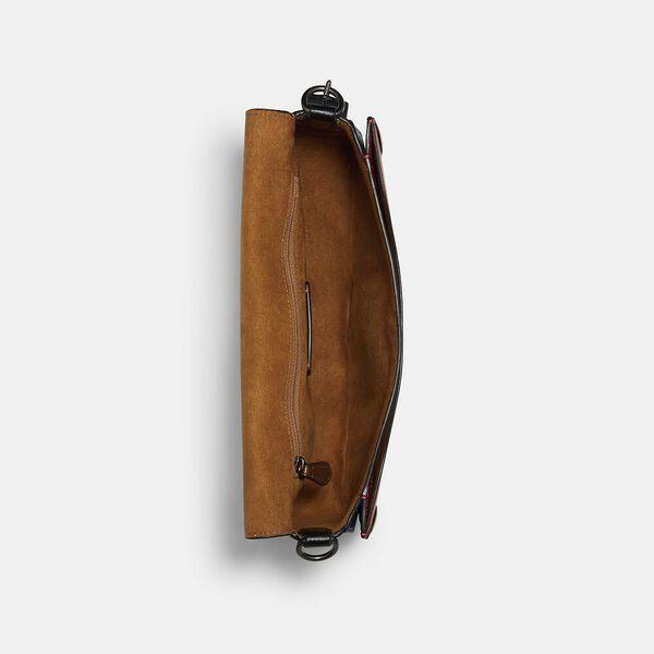 Georgie Shoulder Bag With Colorblock Quilting, QB/BRIGHT POPPY MULTI, hi-res