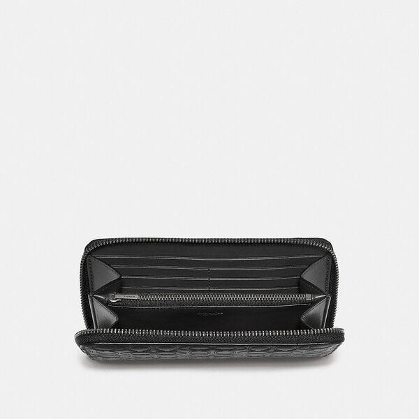 Accordion Wallet In Signature Leather, BLACK, hi-res