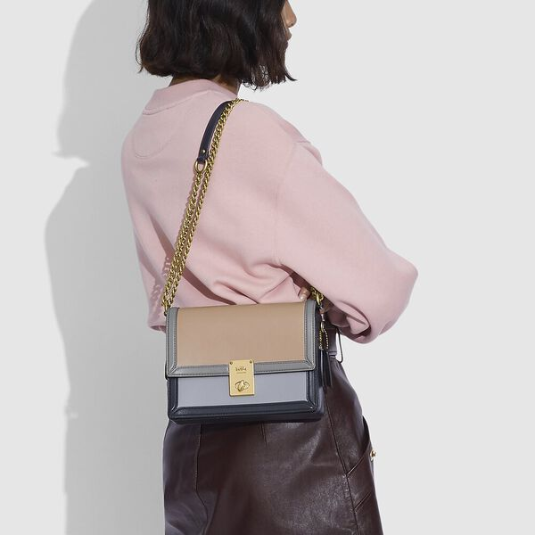 Hutton Shoulder Bag In Colorblock, B4/TAUPE GRANITE MULTI, hi-res