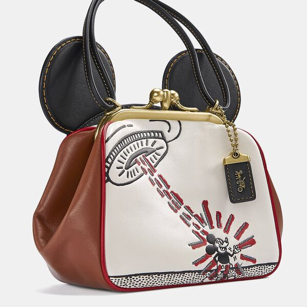 Disney Mickey Mouse X Keith Haring Kisslock Bag, B4/CHALK 1941 SADDLE, hi-res