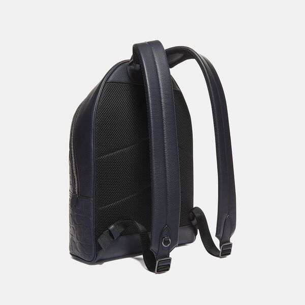 Metropolitan Soft Backpack In Signature Leather, QB/MIDNIGHT NAVY, hi-res