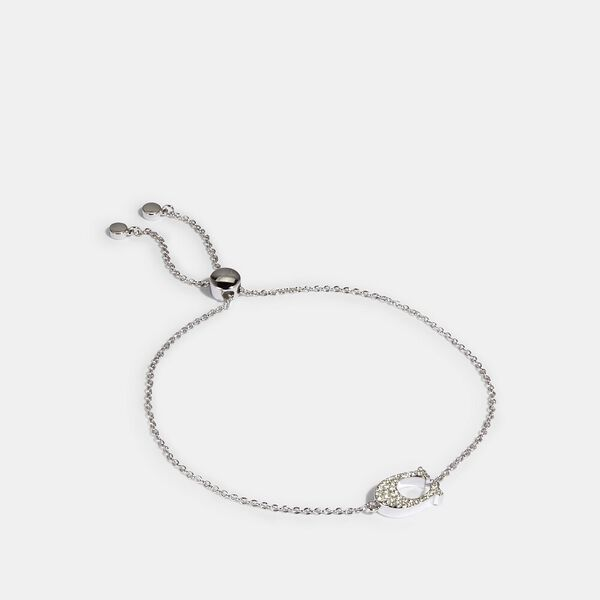 Pave Signature Slider Bracelet