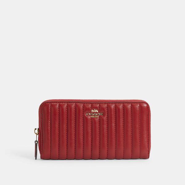 Accordion Zip Wallet With Quilting, IM/1941 RED, hi-res