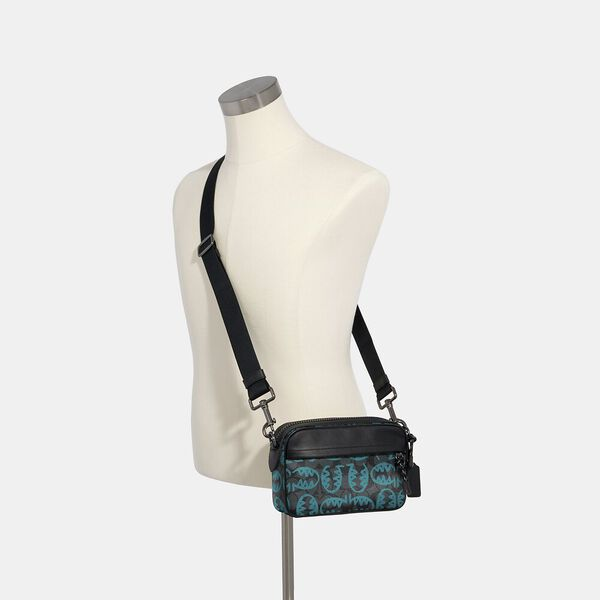 Graham Crossbody In Signature Canvas With Rexy By Guang Yu, QB/GRAPHITE BLUE GREEN, hi-res