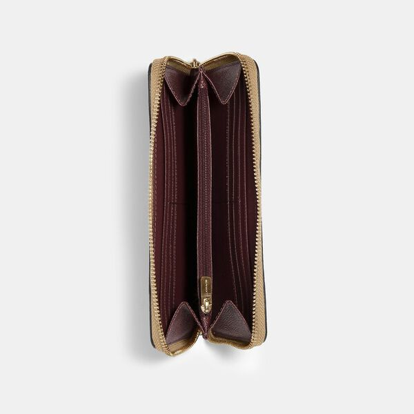 Accordion Zip Wallet, IM/TAUPE, hi-res