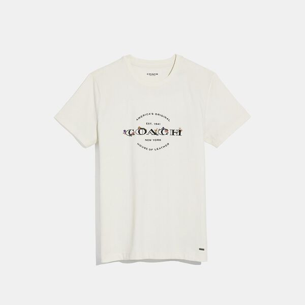 Coach T-Shirt, WHITE, hi-res