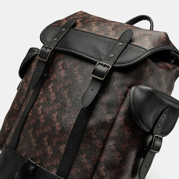 Hitch Backpack With Horse And Carriage Print, JI/TRUFFLE, hi-res