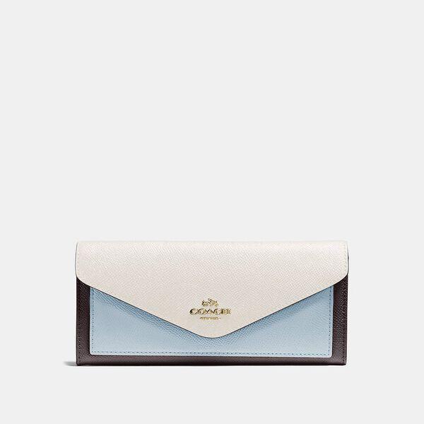 Soft Wallet In Colorblock, B4/OXBLOOD MULTI, hi-res