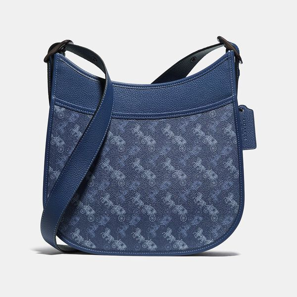 Emery Crossbody With Horse And Carriage Print