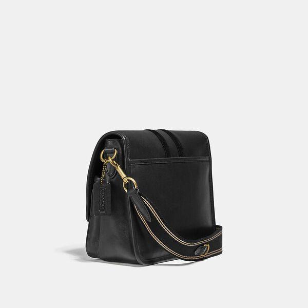 Map Bag With Varsity Stripe, OL/BLACK, hi-res