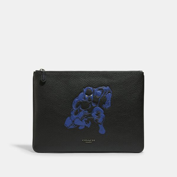 Coach x Marvel Large Pouch With Black Panther, QB/BLACK MULTI, hi-res