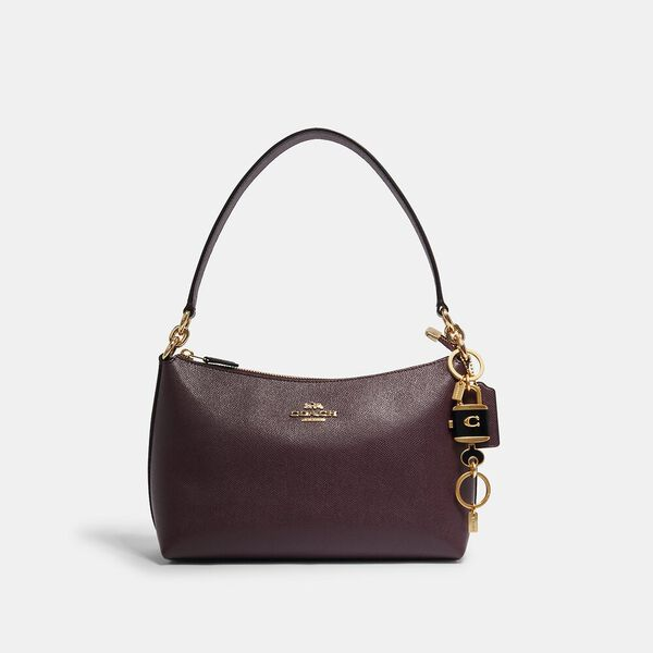 Lock And Key Bag Charm Key Ring, IM/BLACK, hi-res