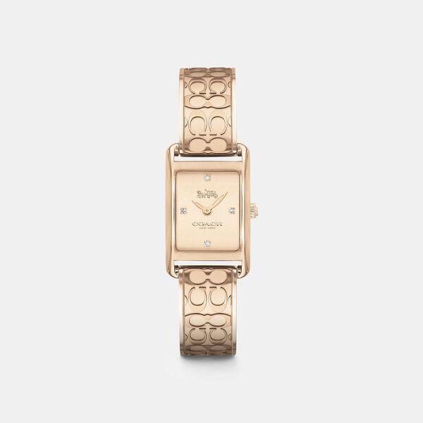 Allie Rose Gold Steel Slim Watch