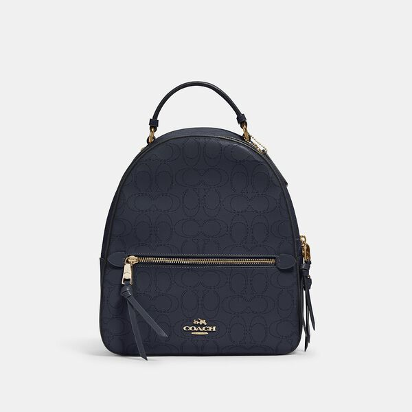 Jordyn Backpack In Signature Leather, IM/MIDNIGHT, hi-res