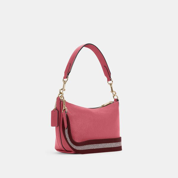 Dempsey Shoulder Bag With Patch, IM/FUCHSIA, hi-res