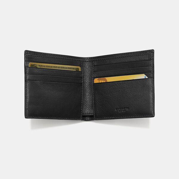 Double Billfold Wallet, BLACK, hi-res