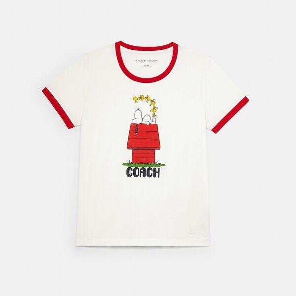 Coach X Peanuts Snoopy T-Shirt, WHITE, hi-res