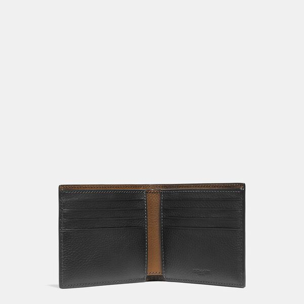 Double Billfold Wallet, BLACK, hi-res