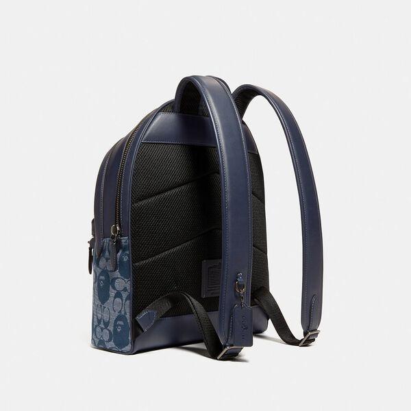 BAPE x Coach Charter Backpack In Signature Chambray, V5/CHAMBRAY, hi-res
