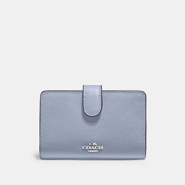 Medium Corner Zip Wallet, SV/MIST, hi-res