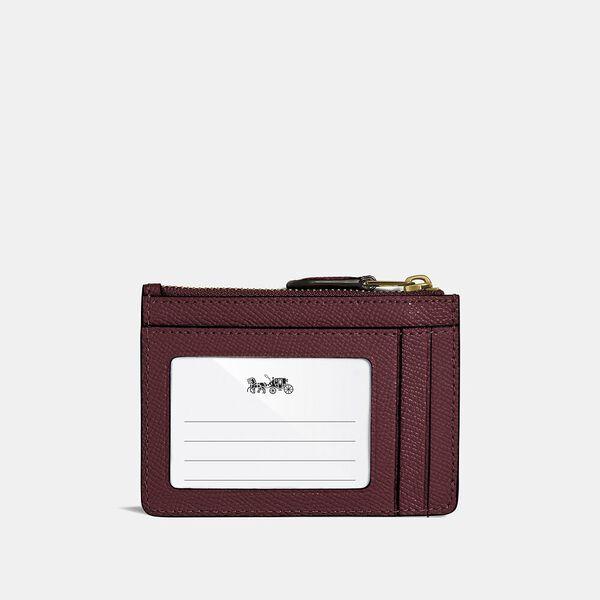 Mini Skinny Id Case, B4/WINE, hi-res