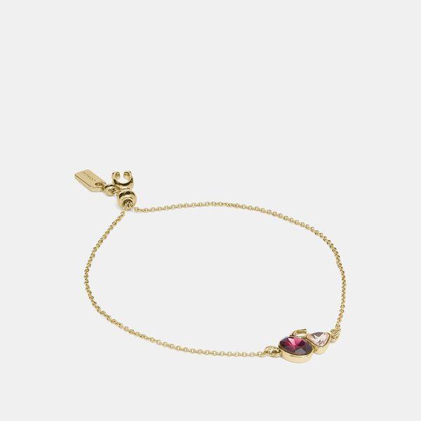Signature Crystal Cluster Slider Bracelet