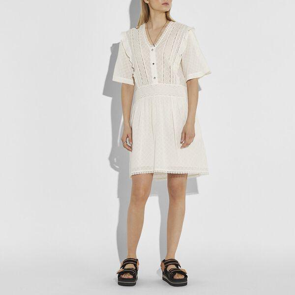 Broderie Anglaise Mini Dress, CREAM, hi-res