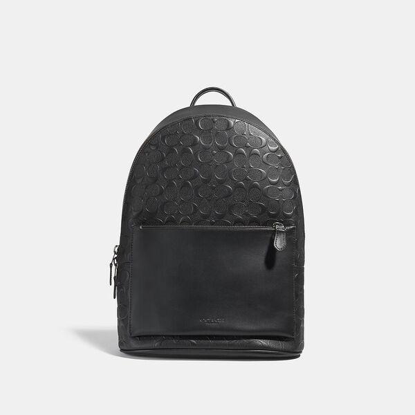 Metropolitan Soft Backpack In Signature Leather, QB/BLACK, hi-res
