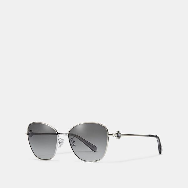 Gia Butterfly Sunglasses, SILVER, hi-res