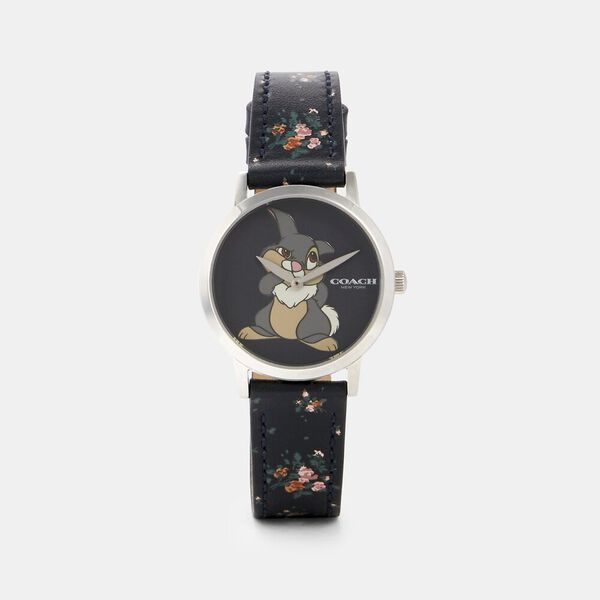 Disney X Coach Chelsea Watch With Thumper, 32Mm, BLACK, hi-res