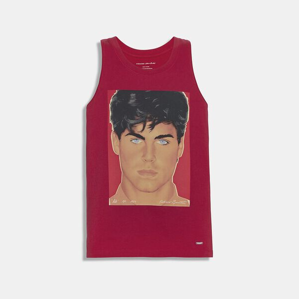 Coach X Richard Bernstein Tank With Rob Lowe, Red, hi-res